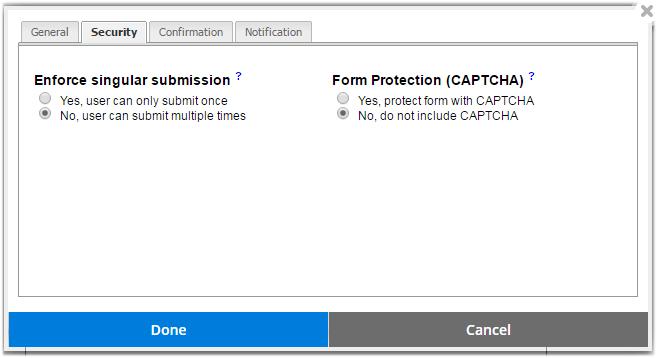 website.com contact form security features