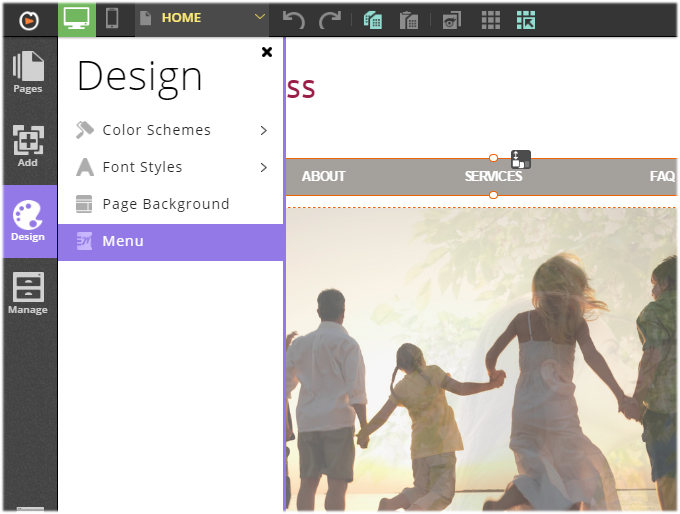 customizing website menu