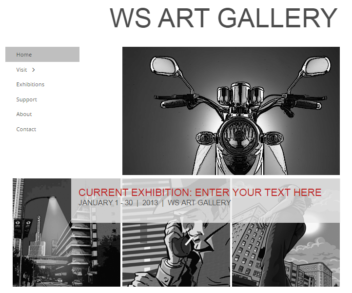 website with vertical menu bar 1