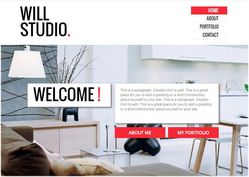 website with vertical menu bar 2