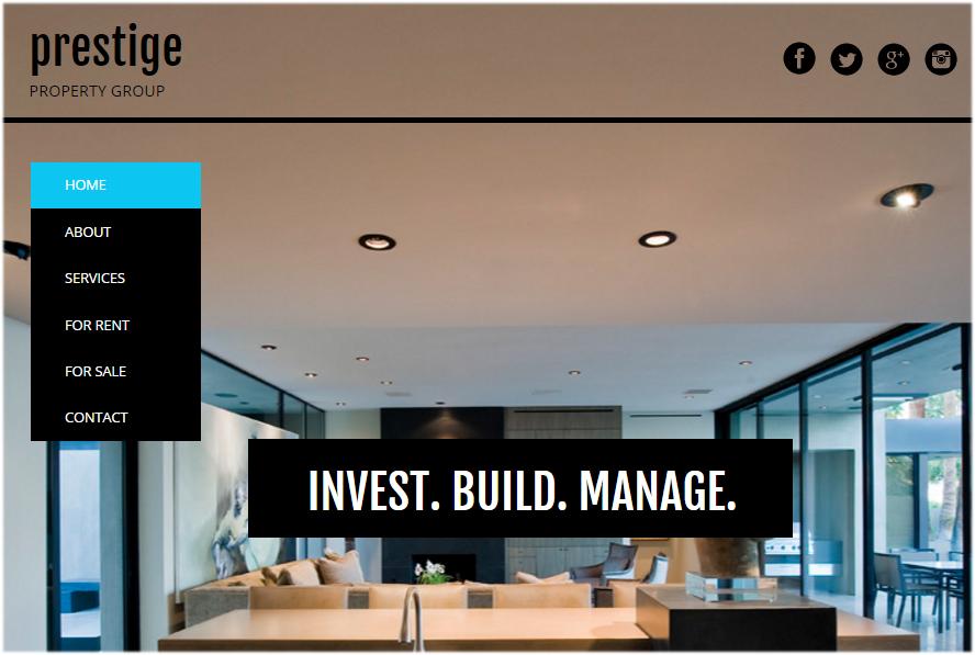 website with vertical menu bar 4